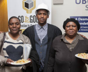 Yamkela Puza with his aunt Nompumelelo Puza and granny Thobeka Hilda Puza at the the Go for Gold Awards Ceremony