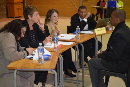 Ukhetho Gr 12 Interview Process- student Lynton Marias and the Synergy panel